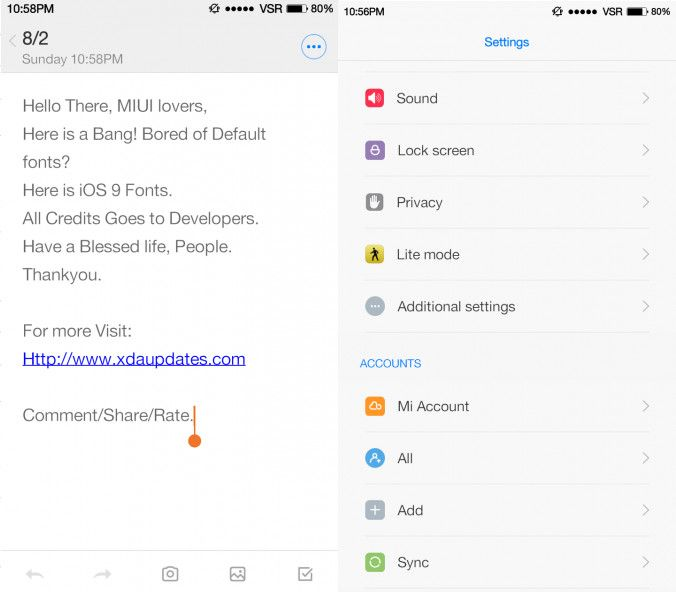 How to get iOS 9 fonts on Xiaomi MIUI 7 smartphones