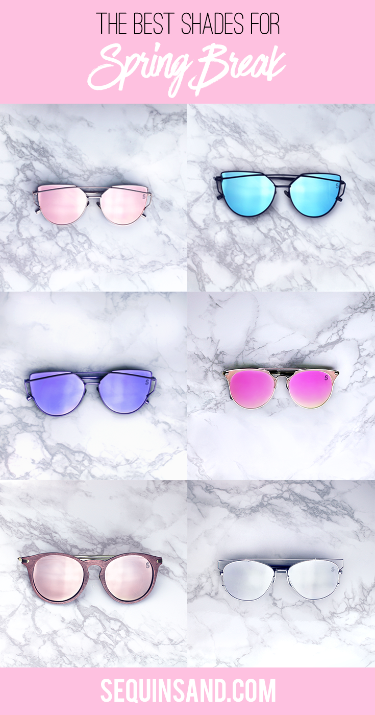 c07522319dea The best sunglasses for Spring Break. Shop these Sunnies Under  20!  Affordable cat eye aviators from Sequin Sand