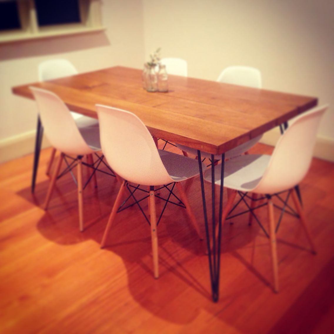 Mid Century Modern Hairpin Dining Table Upcycled Oak Wine Vat Hairpin Dining Table Dining Table Century Modern Furniture