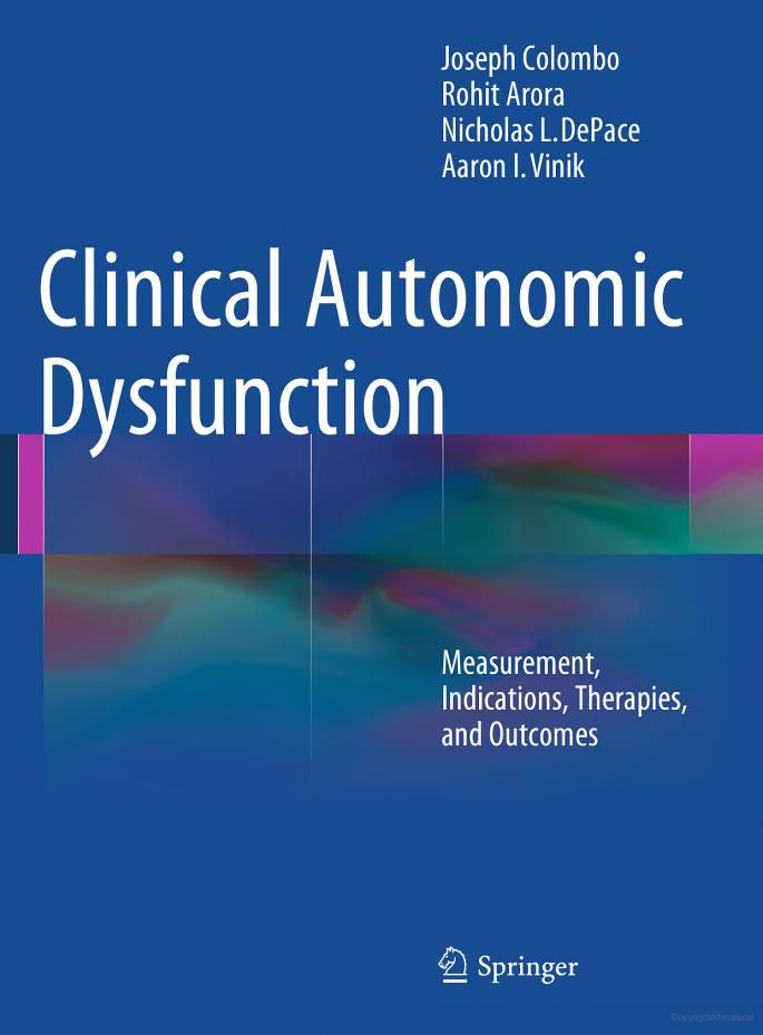 Clinical Autonomic Dysfunction: Measurement, Indications, Therapies, and ... - Joseph Colombo, Rohit Arora, Nicholas L. DePace, Charlotte Ball - Google Books