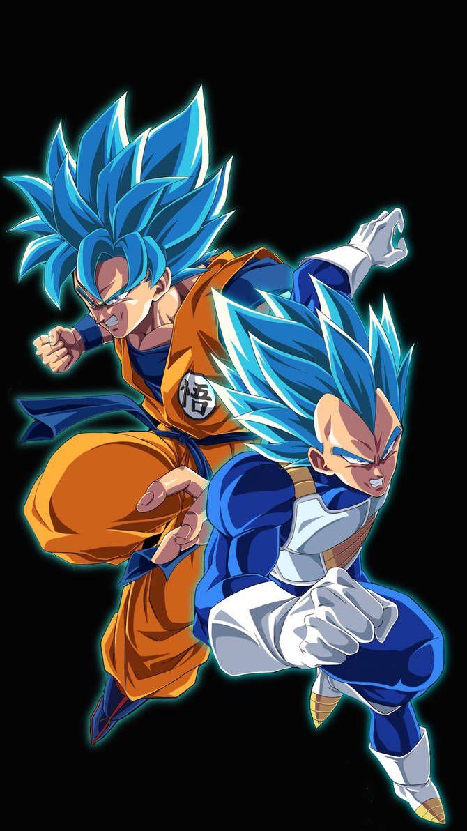 Super Saiyan Blue Goku and Vegeta  by KingGoku23 on DeviantArt