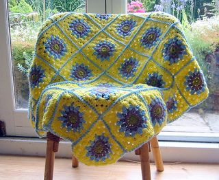 Vintage Style Granny Blanket pattern by The Sunroomuk