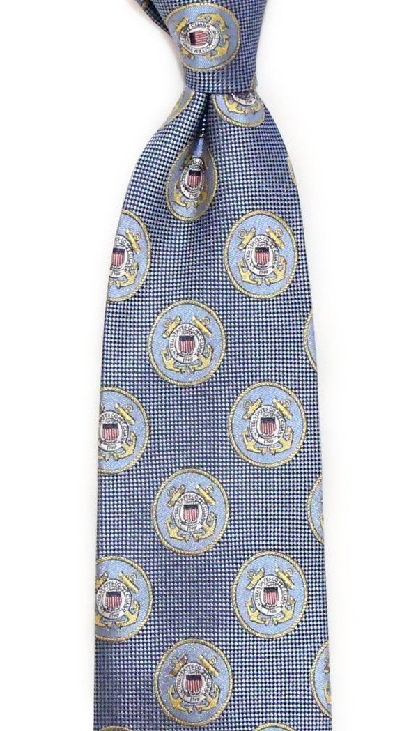 539359166031 U.S. Coast Guard Neck Tie in Blue by Dogwood Black | Weddin | Black ...