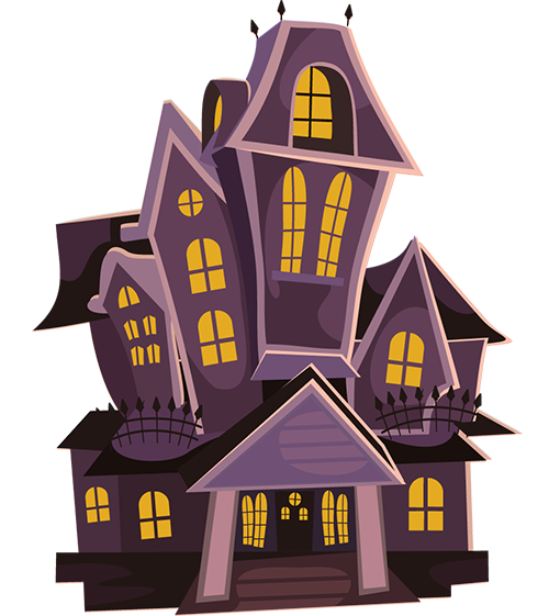 The Web Of The Witch By Md Ali Raza Khan India Is One Of The Outstanding Stories At The Biannual Internati Haunted House Clipart Haunted House Cartoon House