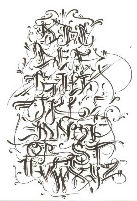 4 Tagging Letters Styles Graffiti Alphabet A Z