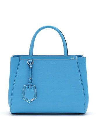 2Jours Petite Shopping Tote Bag, Turquoise Blue by Fendi at Neiman Marcus.