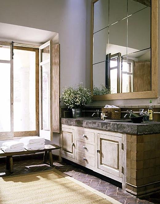 Reforma #baño, de estilo rústico, mueble de obra con ladrillo y ...