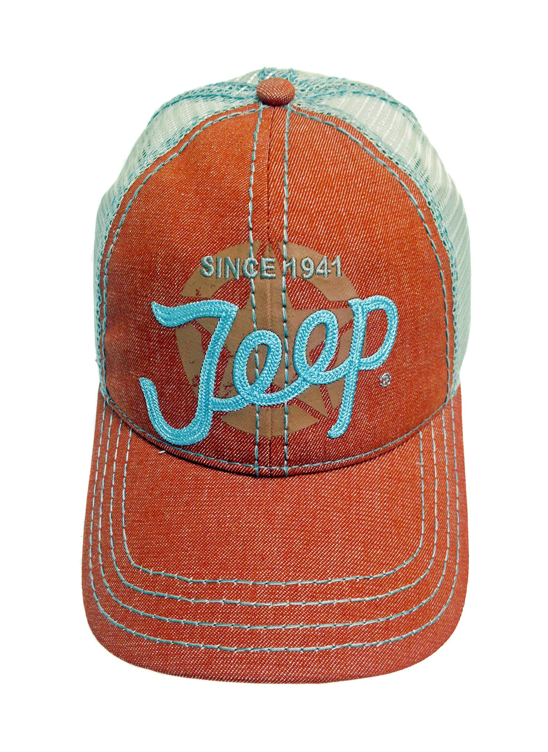 Jeep Script Denim and Mesh Hat  72ddc78fef23