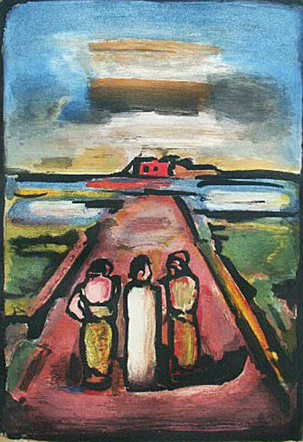 Georges Rouault - The Appearance on the Road to Emmaus | Road to ...