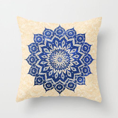 Watercolor Mandala Throw Pillow cover