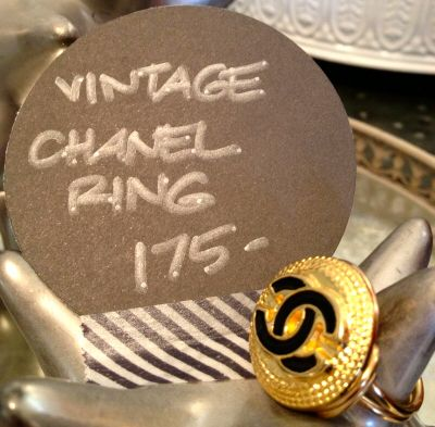 We have this intricately designed Chanel ring and many more great holiday gifts on sale now.  Even better - we'll be open this Saturday from 10am to 2pm!