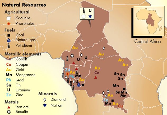Map Of Africa Natural Resources.Resources Central Africa Africa Geopolitics African Empires
