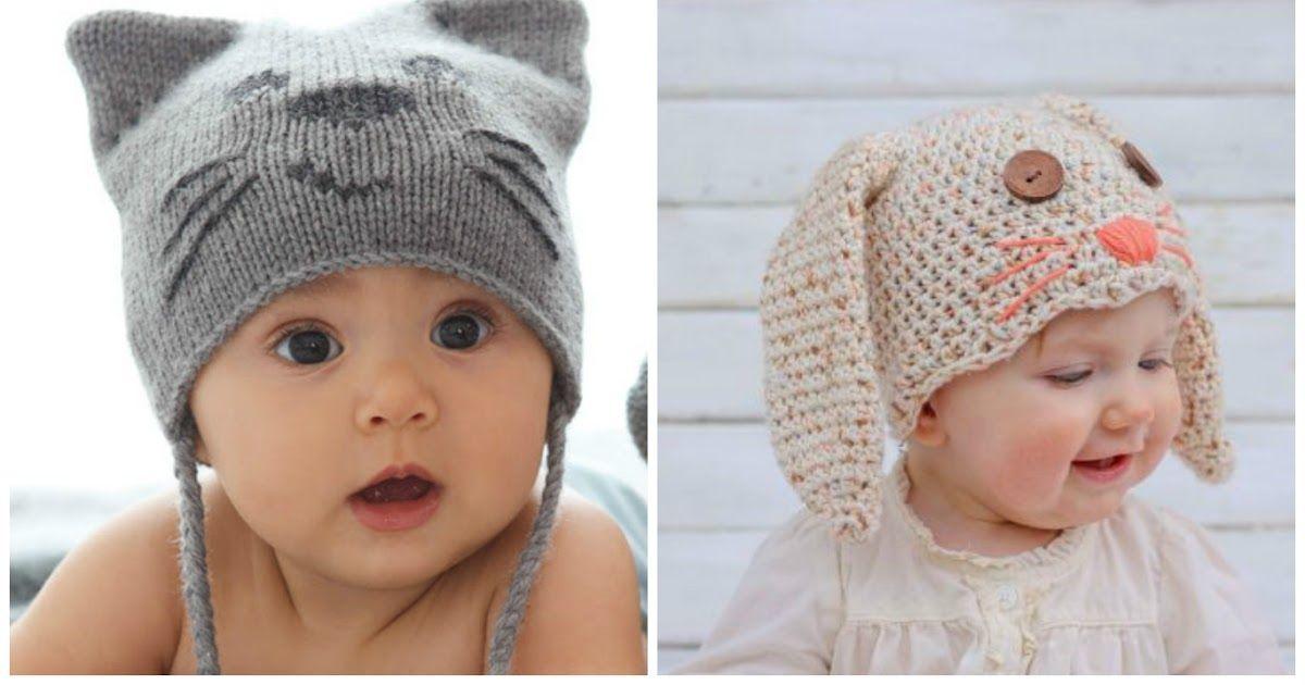 Cómo hacer un gorro para bebé en crochet con forma de conejo bf920641be6