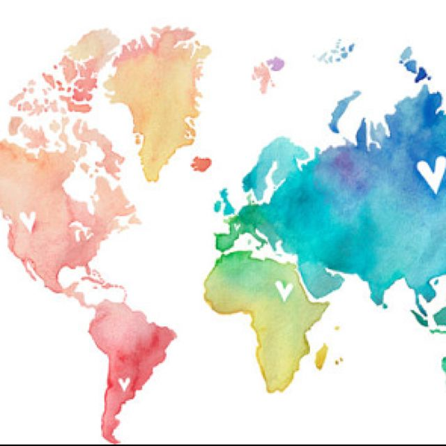 Watercolor world map by poppy pinecone etsy obsessed with watercolor world map by poppy pinecone gumiabroncs Image collections