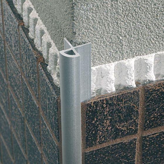 Aluminum Edge Trim For Tiles Outside Corner Mosaictec Rjm Profilitec Tile Edge Fireplace Tile Tile Trim