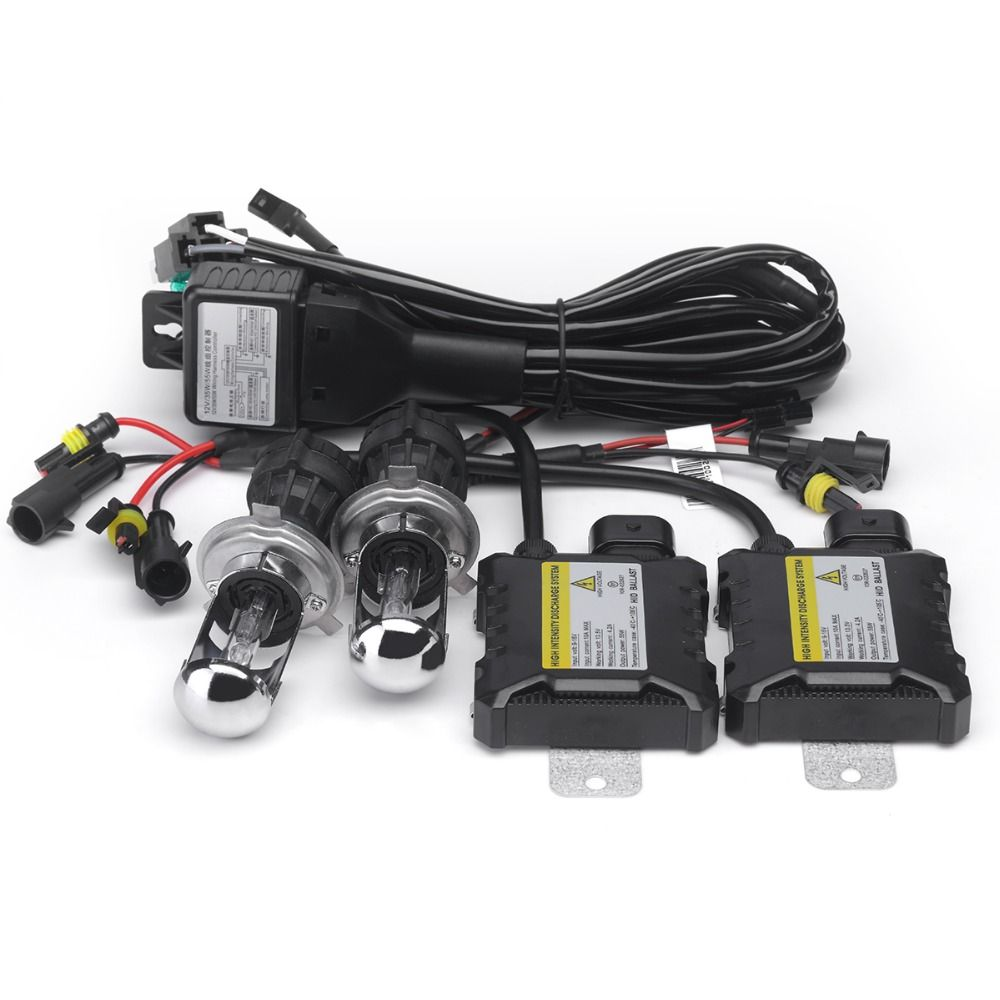 1set 55w Hid H4 3 Hi Lo Bi Xenon H4 Bixenon H4 Bi Xenonhid Kit 4300k 6000k 8000k For Car Xenon Automobile Headlig Car Headlight Bulbs Car Headlights Automobile