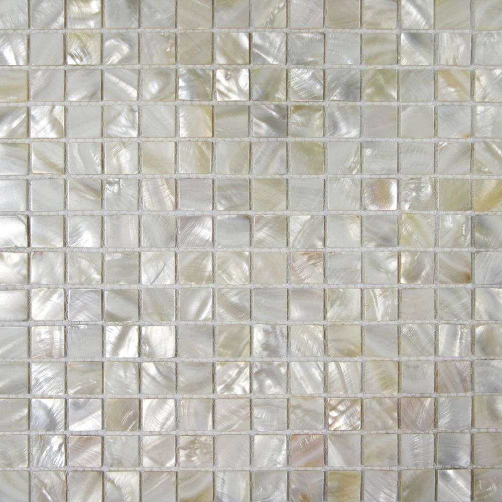 Natural White Mother Of Pearl Mosaic Tilessuitable For Bathroom