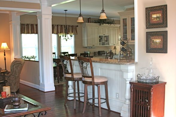 Kitchen Family Room Makeover Family Room Makeover Breakfast Bar Kitchen Half Walls