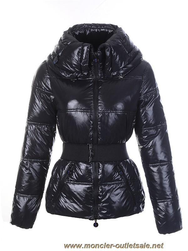 Moncler Aliso Designer Womens Down Jackets With Belt Black Outlet