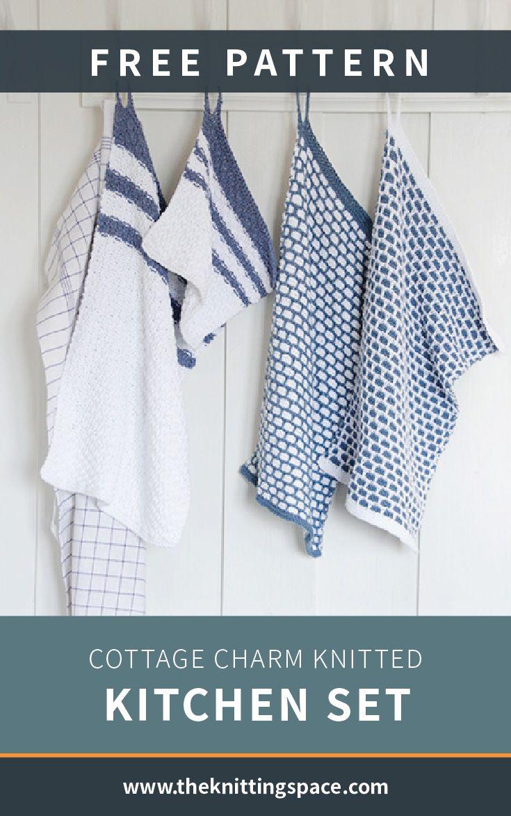Cottage Charm Knitted Kitchen Set [FREE Knitting Pattern]