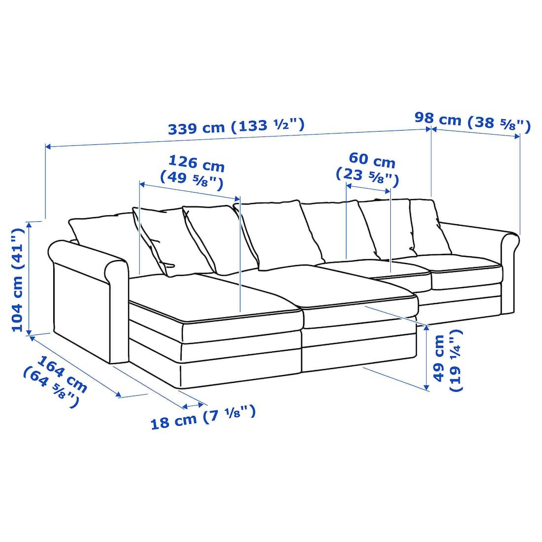 Gr 214 Nlid Sectional 4 Seat With Chaise Inseros White