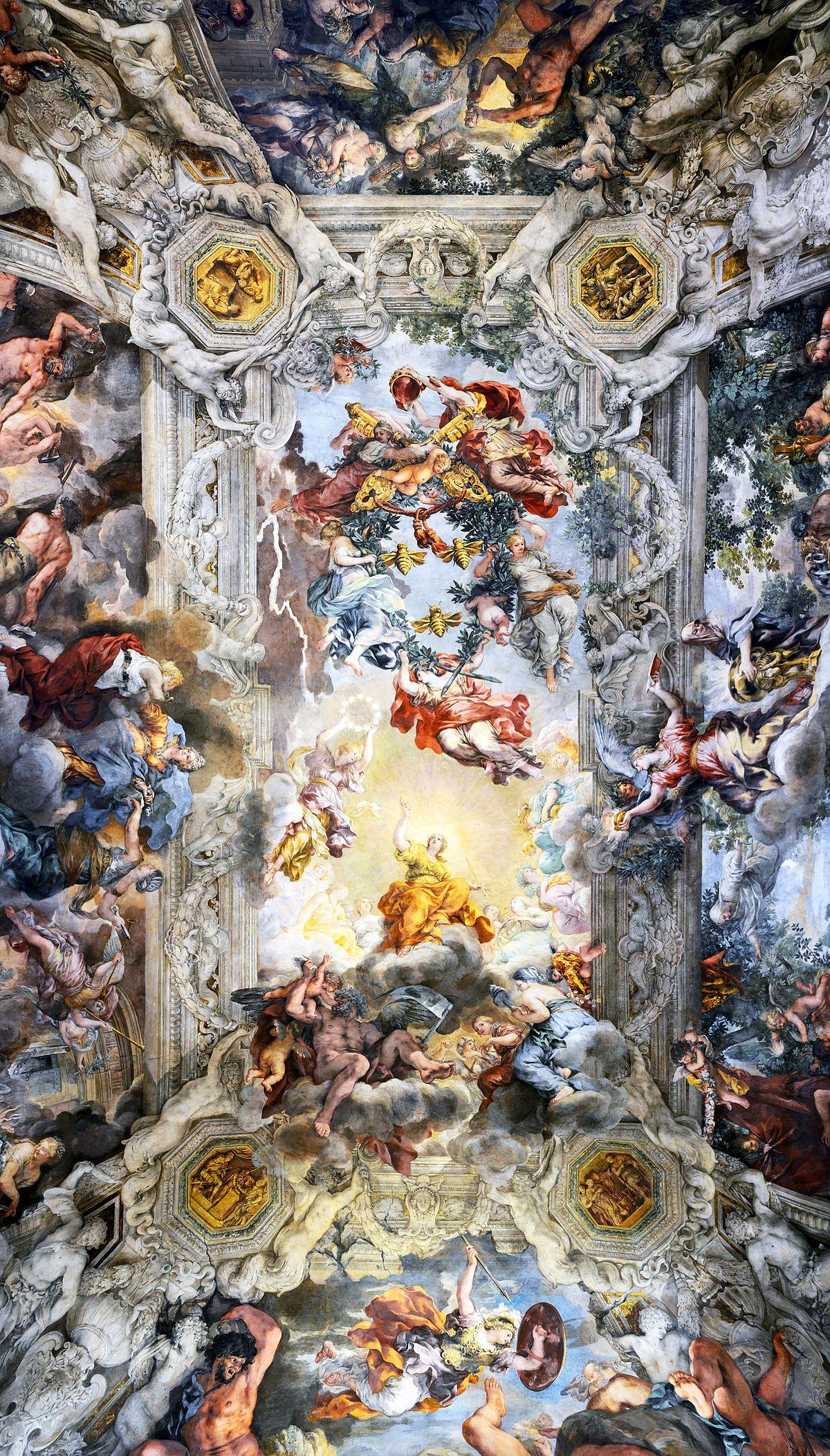 Allegory Of Divine Providence And Barberini Power Cortona Wikipedia Painting Wallpaper Baroque Art Rennaissance Art
