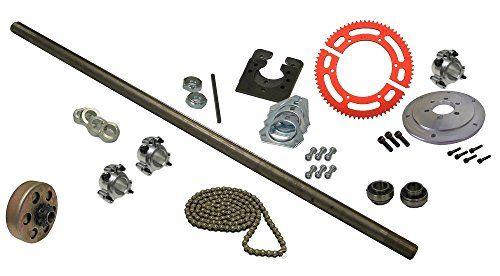 Drift Trike Axle Kit with Clutch 35 Chain 40 Axle Length