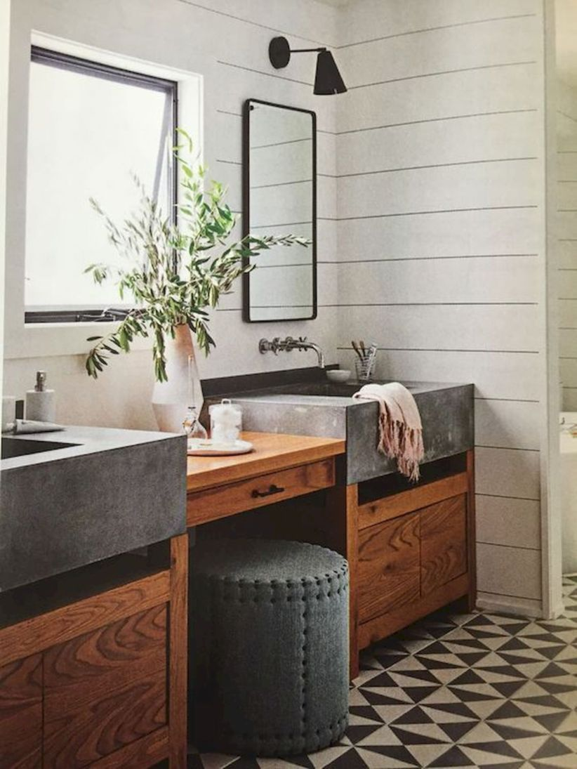 49 Modern Farmhouse Bathroom Remodel Ideas Decoratrend Com Bathroomremodelideaspictu Bathroom Farmhouse Style Rustic Master Bathroom Bathroom Remodel Master