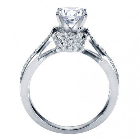 Cathedral Style Diamond Engagement Ring Settings Without 7