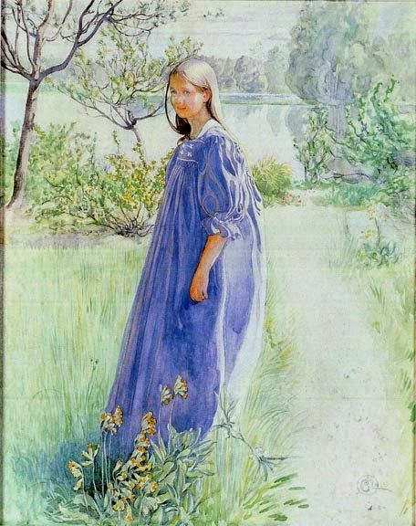 ART & ARTISTS / Sun and Flowers by Carl Larsson