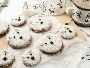 Ich Koche Weihnachtskekse.Flauschige Eisbär Kekse Ich Koche At Kekse Rezepte Und