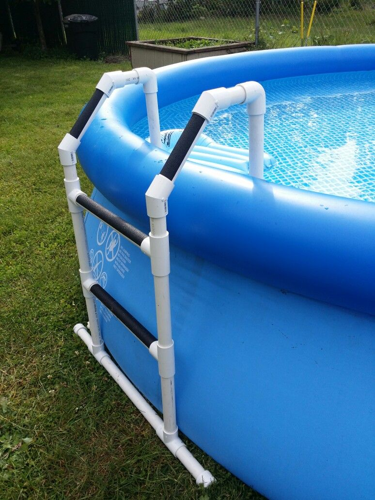 Pvc pool ladder diy projects pinterest pvc pool for Diy small pool