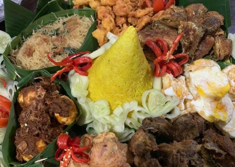 Resep Tumpeng Nasi Kuning Enak Resep Makanan Masakan Indonesia Nasi