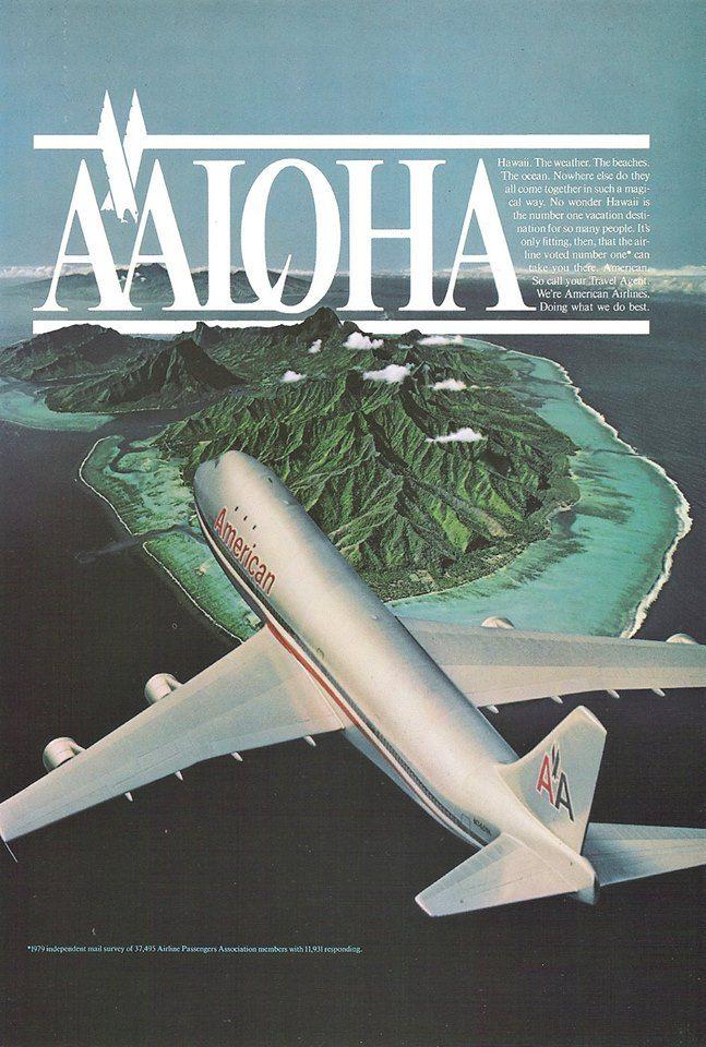 American 747 Hawaii American travel, Family vacation
