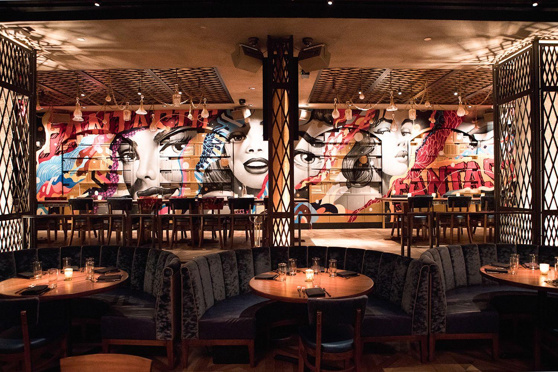 Street Art Meets Food Inside New Yorks Vandal Restaurant InteriorsCafe RestaurantRestaurant DesignCity