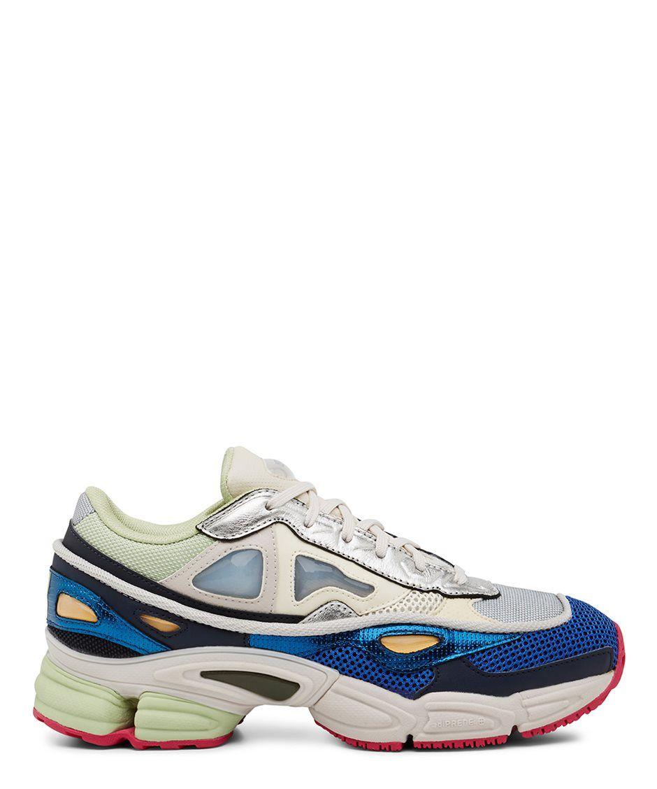 16d49f04b6f Raf Simons X Adidas Green and Grey Ozweego 2 Sneaker - Sneakerboy ...