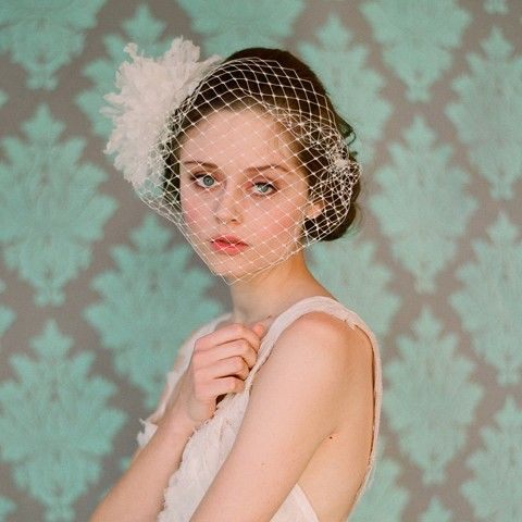 i am obsessed with bird cage veils! oh how i wait til the day one of my brides indulges me!