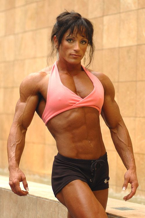Female bodybuilder dom