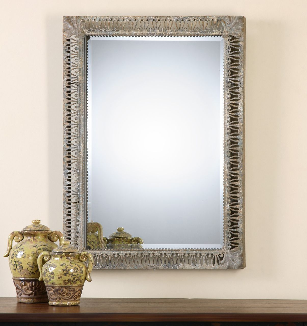 Charmant Grosseto Distressed Metal Mirror   Premier Home Decor