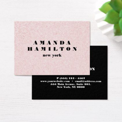 Trendy chic sophisticated pink black glitter business card trendy trendy chic sophisticated pink black glitter business card trendy gifts cool gift ideas customize reheart Image collections