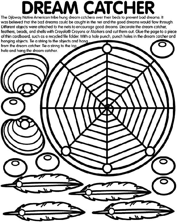 Dream Catcher Worksheet multicultural coloring page Dream Catcher coloring page 7