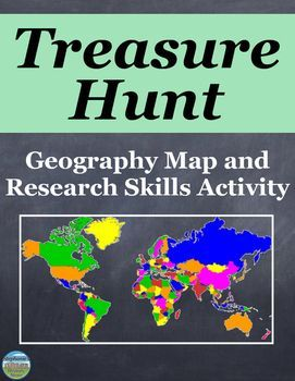 Geography map and research skills activity geography geography send your students on a geography treasure hunt there are 28 questions and each answer gumiabroncs Gallery