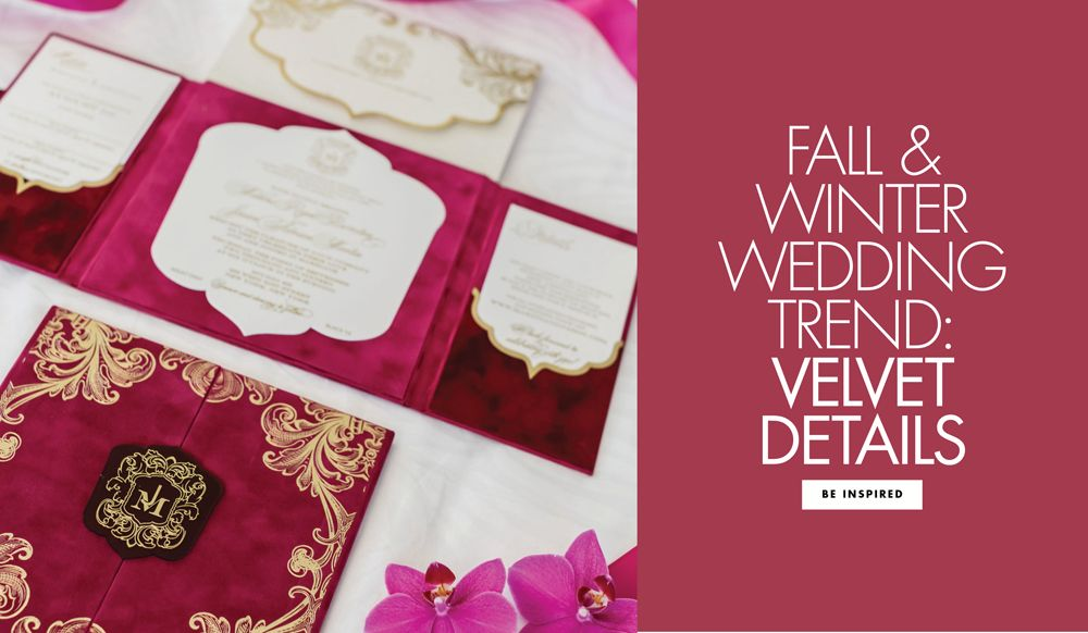 Velvet Wedding Details Article Chic Ways to