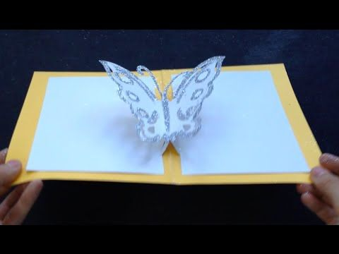 Easy Butterfly Kirigami Pop Up Card Diy Birthday Day Gift Craft Love Pop Up Cards Simple Cards Kirigami