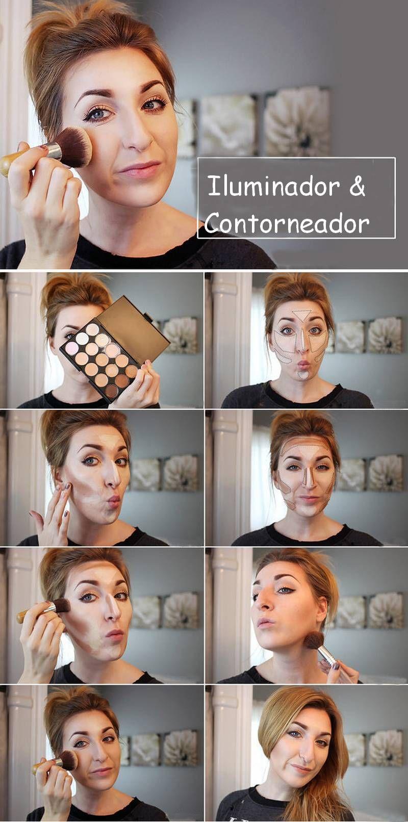 10 diagramas de maquillaje que facilitarán la vida   Contornos ...