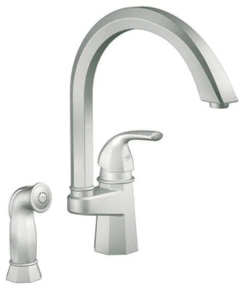 Moen Scsl Felicity Single Handle Kitchen Faucet Sidespray Moen Csl Camerist  Handle Classic Stainless Arc Kitchen