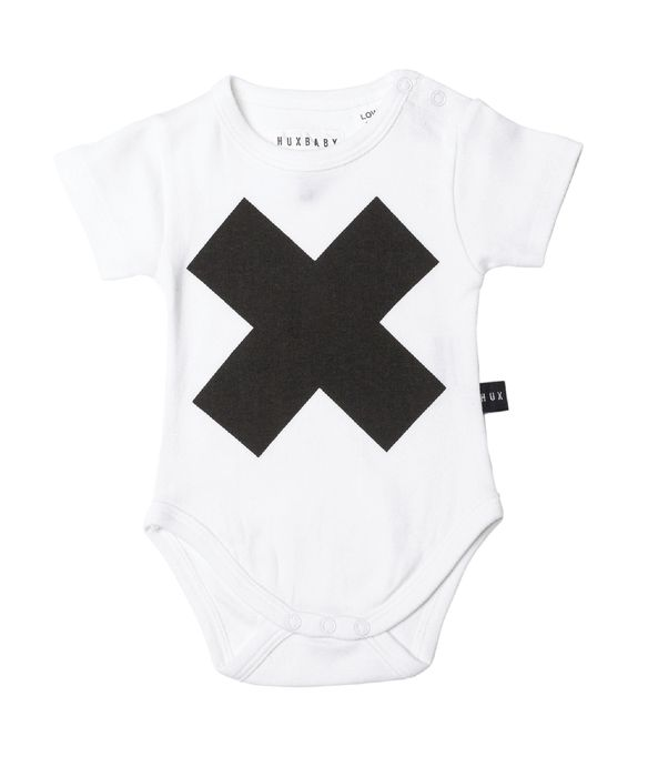 Huxbaby Organic Cross Onesie   Cool Baby Clothes   Tiny Style   Australia