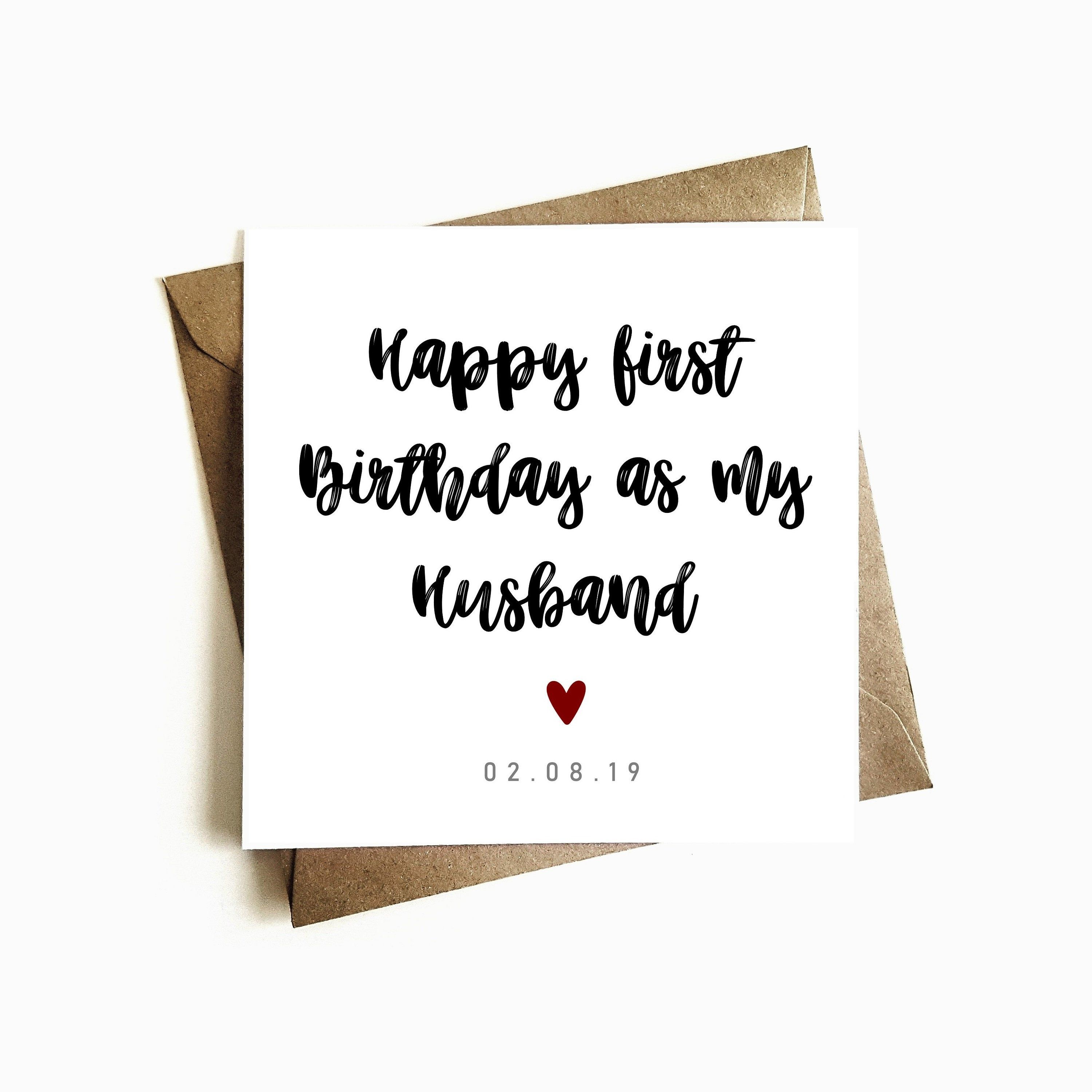 Personalised First Birthday As My Husband Birthday Card Happy Etsy Husband Card Husband Birthday Card My Husband Birthday