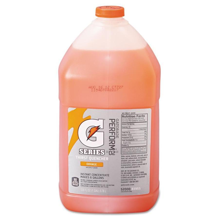 Gatorade Liquid Concentrate Orange One Gallon Jug 4 Carton Lowes Com Gatorade Sports Drink Concentration