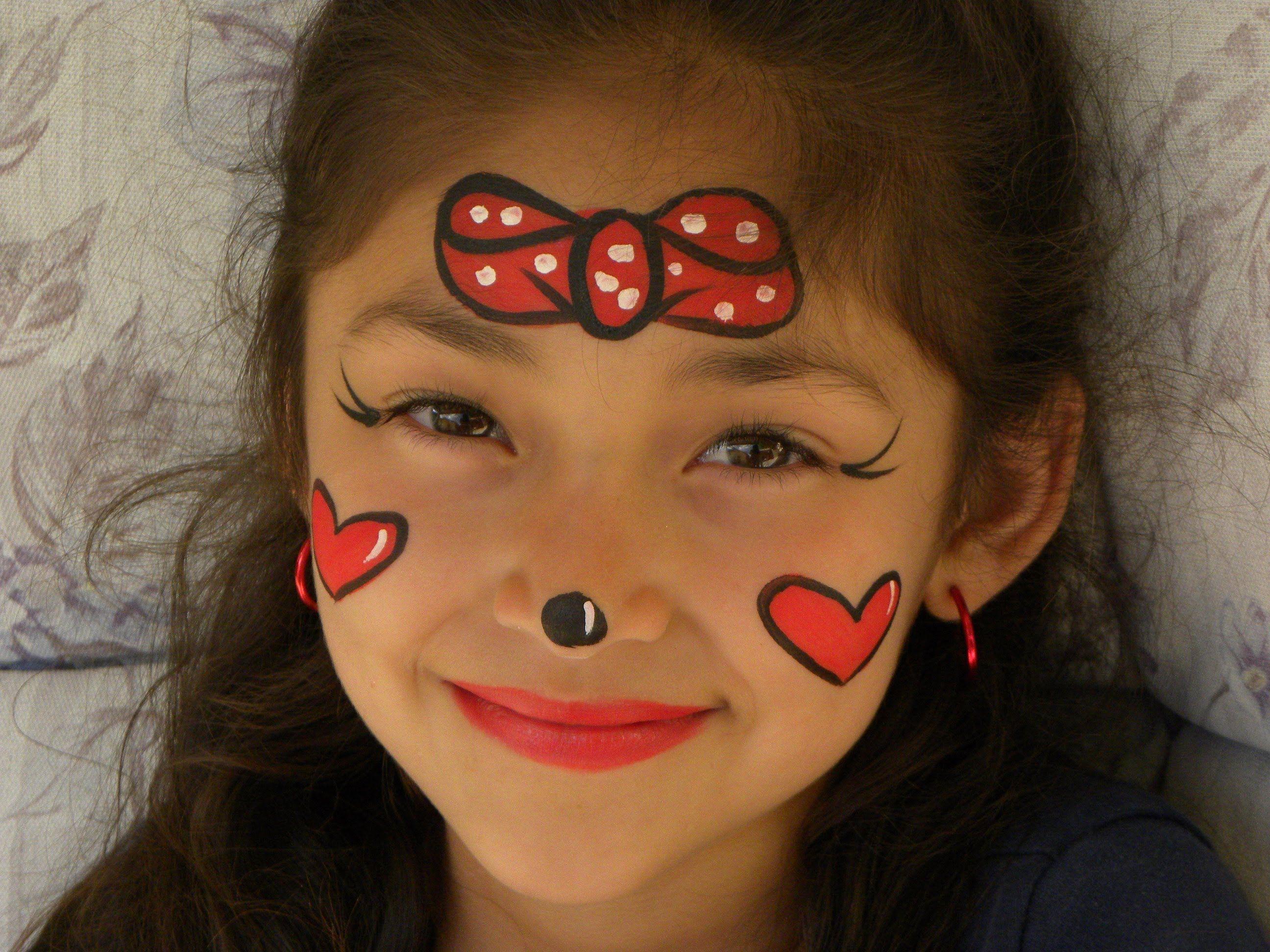 Pintacaritas de minnie mouse face painting diy - Fiesta de disfraces ideas ...